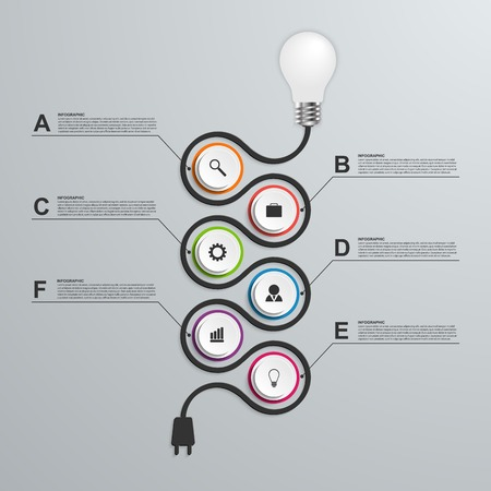 color chart: Abstract infogAbstract infographics design template. 3D light bulb raphics design template. 3D light bulb