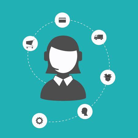 business service: Flat design concept icons store payment plan. Design elements.