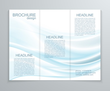 publisher: Vector abstract brochure design template.