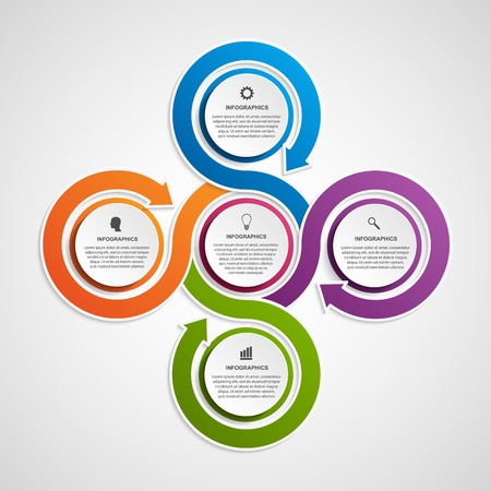 3d circle: Abstract infographic design template.