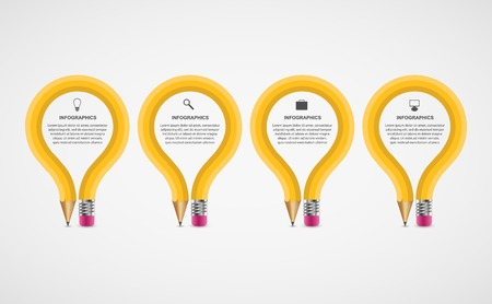 education: option de crayon de l'éducation Infographies modèle de conception