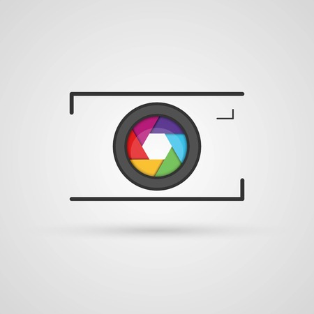 picture person: Vector photo camera icon.