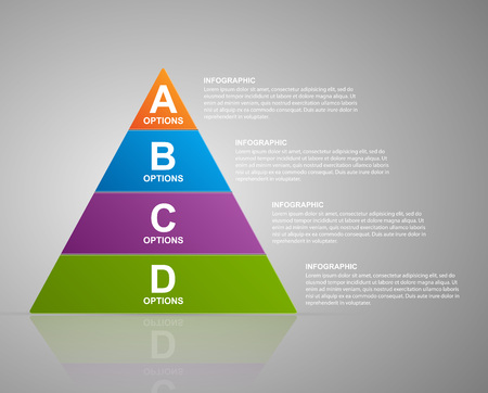 graphic presentation: Vector infographic pyramid. Web design template. Illustration