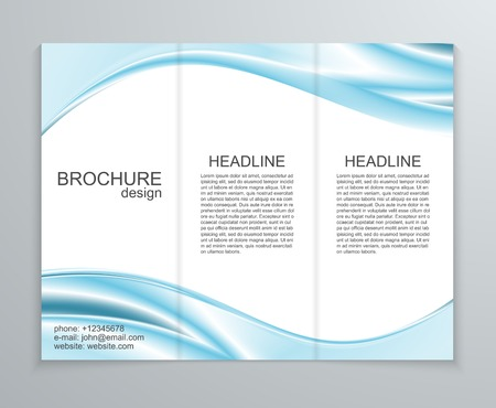 smooth curve design: Vector abstract brochure design template.