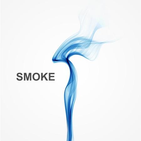 fumo blu: Vector astratto fumo blu di sfondo.