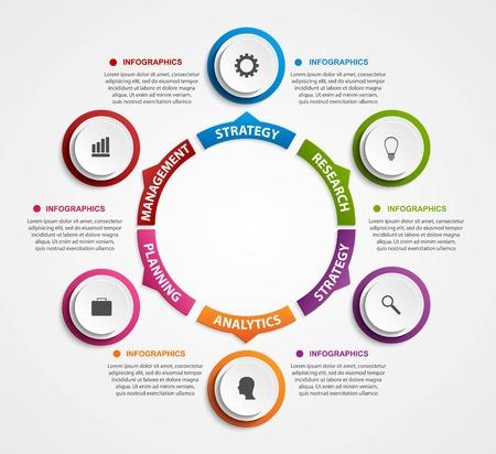 Modern infographics opties banner. Vector illustratie. Stockfoto - 43693570