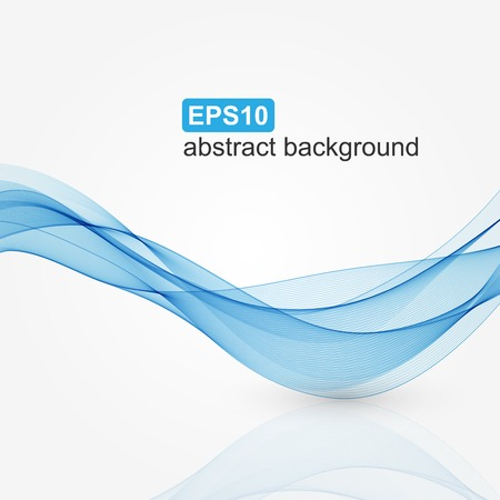 Abstract blue wave background. Vector illustration.