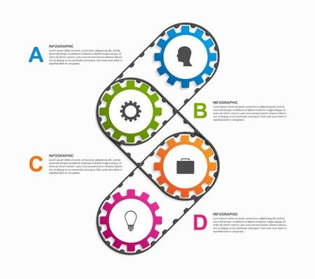 Abstrakte Gänge Infografik. Gestaltungselement. Standard-Bild - 44080572