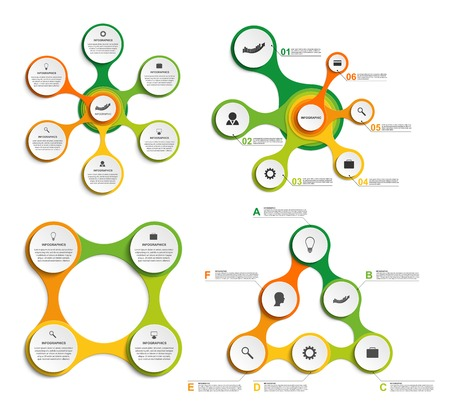 ring: Big set infographic in the form of metabolic. Design elements. Illustration