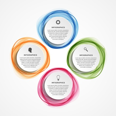 Abstract infographics options banner. Vector illustration. 일러스트