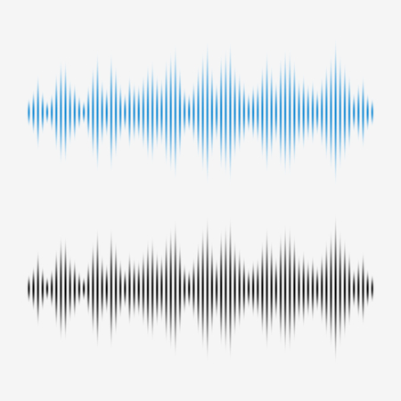 escuchar: ondas de sonido del vector. Ecualizador de música digital.