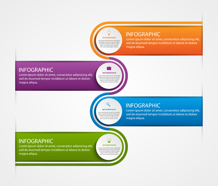 abstract business: Abstract business options infographics template. Illustration