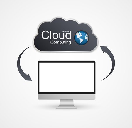 cloud computing concept: Cloud computing concept design. Illustration