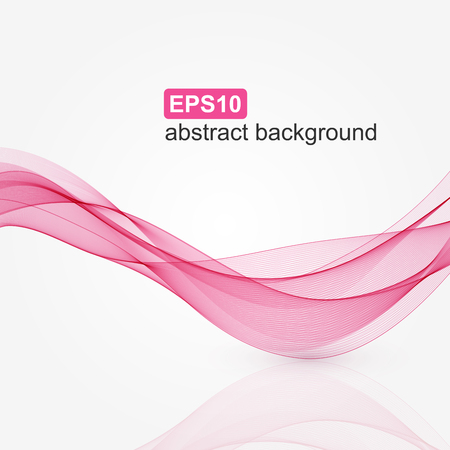 Abstract pink wave background. Vector illustration.