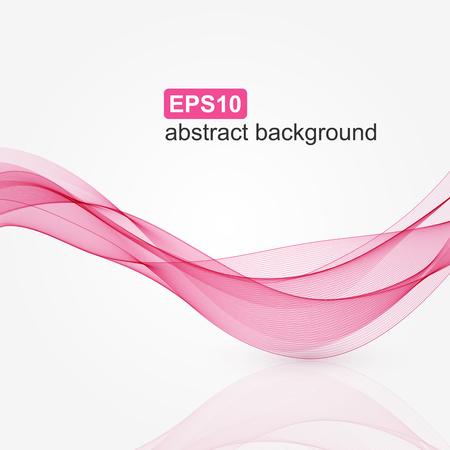 curvas: Resumen de antecedentes de onda de color rosa. Ilustración del vector. Vectores