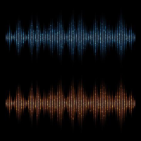 analyzer: Vector equalizer, sound waves. Music Digital Equalizer. Illustration
