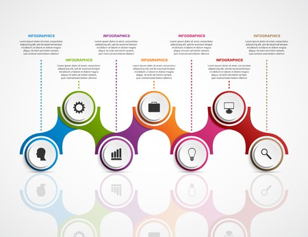 info graphic: Abstract infographics design template. Vector illustration. Illustration