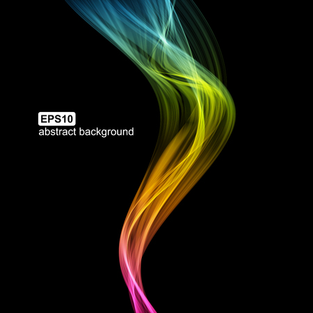 Abstract futuristic colorfull smoke background. Vector illustration.