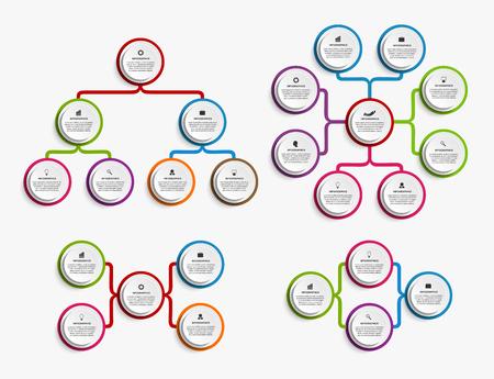organization chart: Collection infographic design organization chart template.