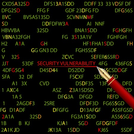 exploit: Abstract technology security computer background.