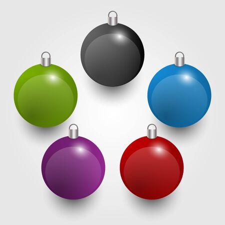 blue ball: Christmas decorations. Vector illustration.