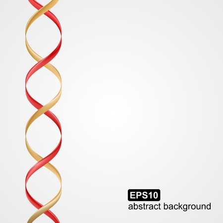 text space: Background with space for text with colored ribbons in the form of a spiral