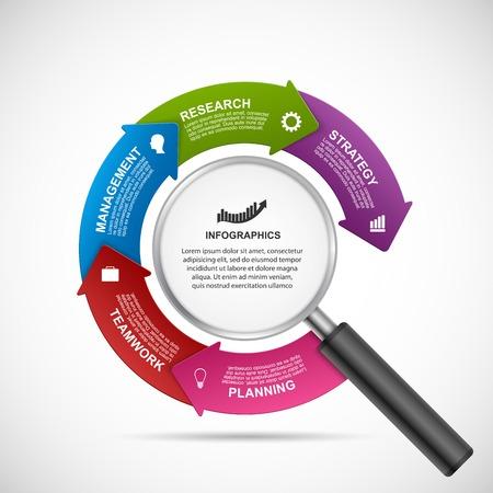 information design: Abstract infographics design template. Vector illustration. Illustration