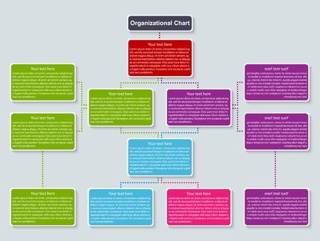 flujo: plantilla de la organización. Vectores
