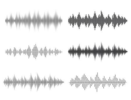 sonido: ondas de sonido del vector. Ecualizador de música digital.