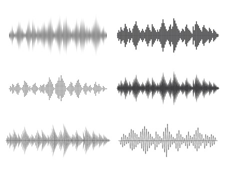 Vektor Schallwellen. Music Digital Equalizer. Standard-Bild - 48972445