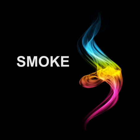 isolated: Abstract futuristic colorfull smoke background. Vector illustration.