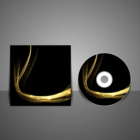 cd cover: Cd cover design template. Abstract technology background.