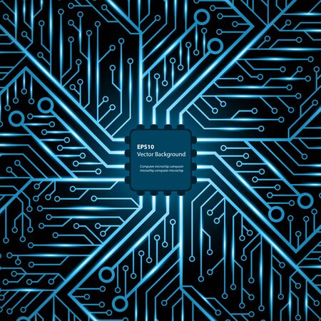 electronic background: Electronic chip. Vector background. Illustration