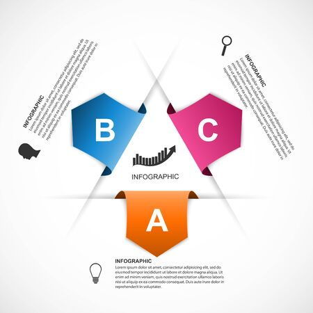 information design: Abstract infographics design template.