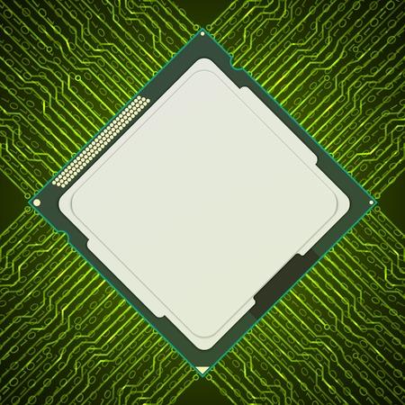 electronic background: Electronic chip. Vector background. Illustration
