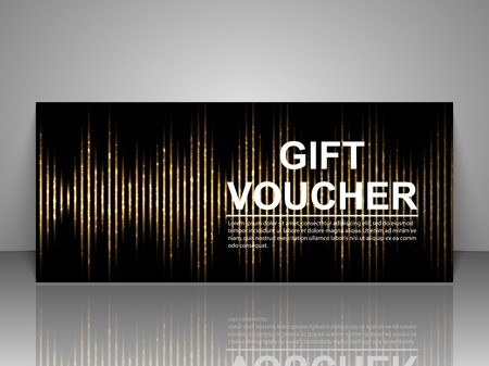 Gift voucher template. Abstract futuristic background