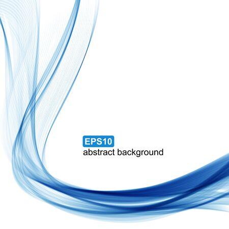 Vektor abstrakte blaue Welle Hintergrund