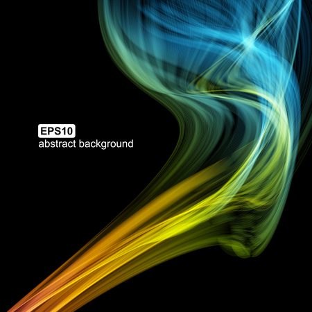 colorfull: Abstract futuristic colorfull smoke background. Vector illustration.