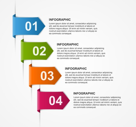 analisys: Abstract infographics design template. Vector illustration. Illustration