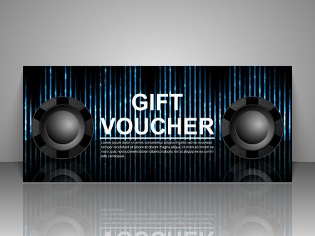 nightclub party: Gift voucher template. Nightclub party.