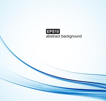 Zusammenfassung Hintergrund. Blaue Wellen auf weißem Hintergrund für die Präsentation, Website, Flyer, Broschüren. Vektorgrafik
