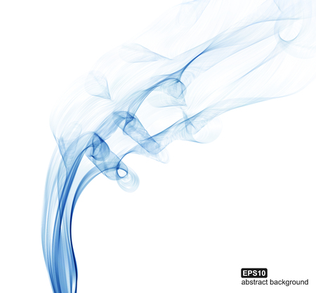 blue smoke: Abstract background. Blue smoke waves on white background.