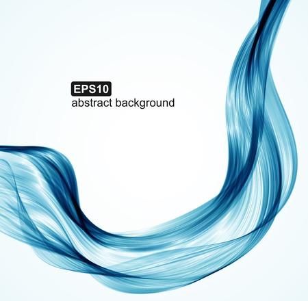 Vecteur vagues bleu abstrait