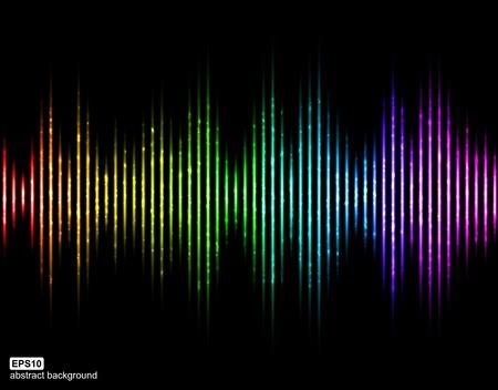 analyzer: Vector sound waves. Music Digital Equalizer.