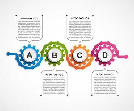 Abstrakte Gänge Infografik . Gestaltungselement Vektorgrafik
