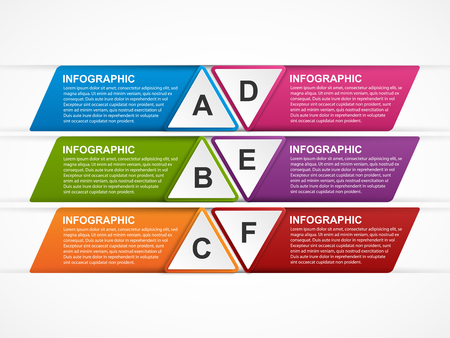 options: Abstract options infographics template.