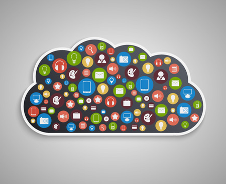 cloud technology: Cloud computing concept. Technology background.