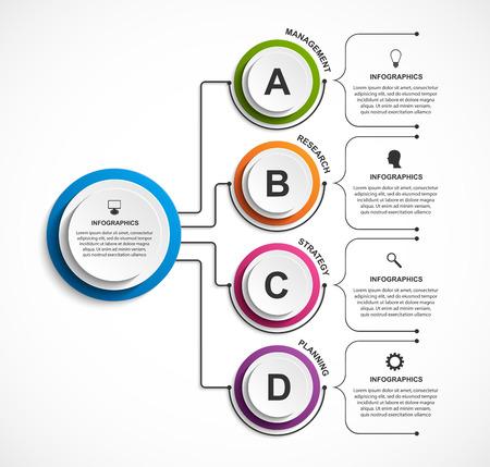 Infographic design organization chart template. Иллюстрация