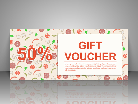 Gift Voucher Template Pizza Flyer Royalty Free Cliparts Vectors