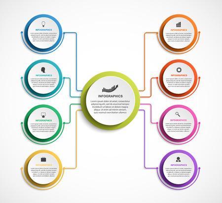 Plantilla de gráfico de organización de diseño de infografía.